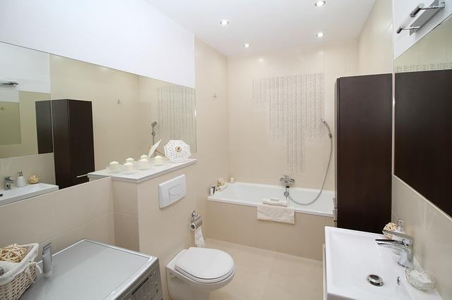Płytki callacata - urządzona łazienka